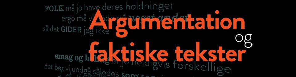 Bogens side: Argumentation og faktiske tekster